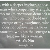 I choose a man.
