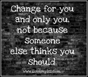 Change for you.