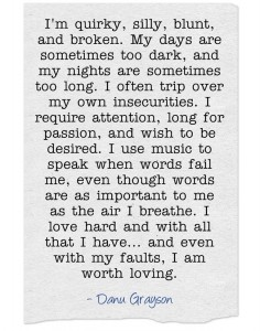 I am worth loving.