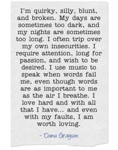 I am worth loving.