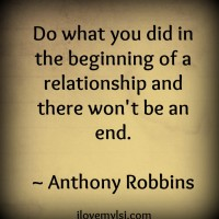 Beginning of a relationship
