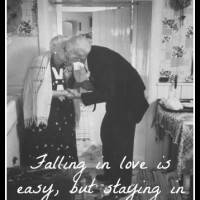 Staying in love is special.