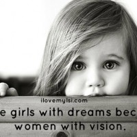 Little girls with dreams.