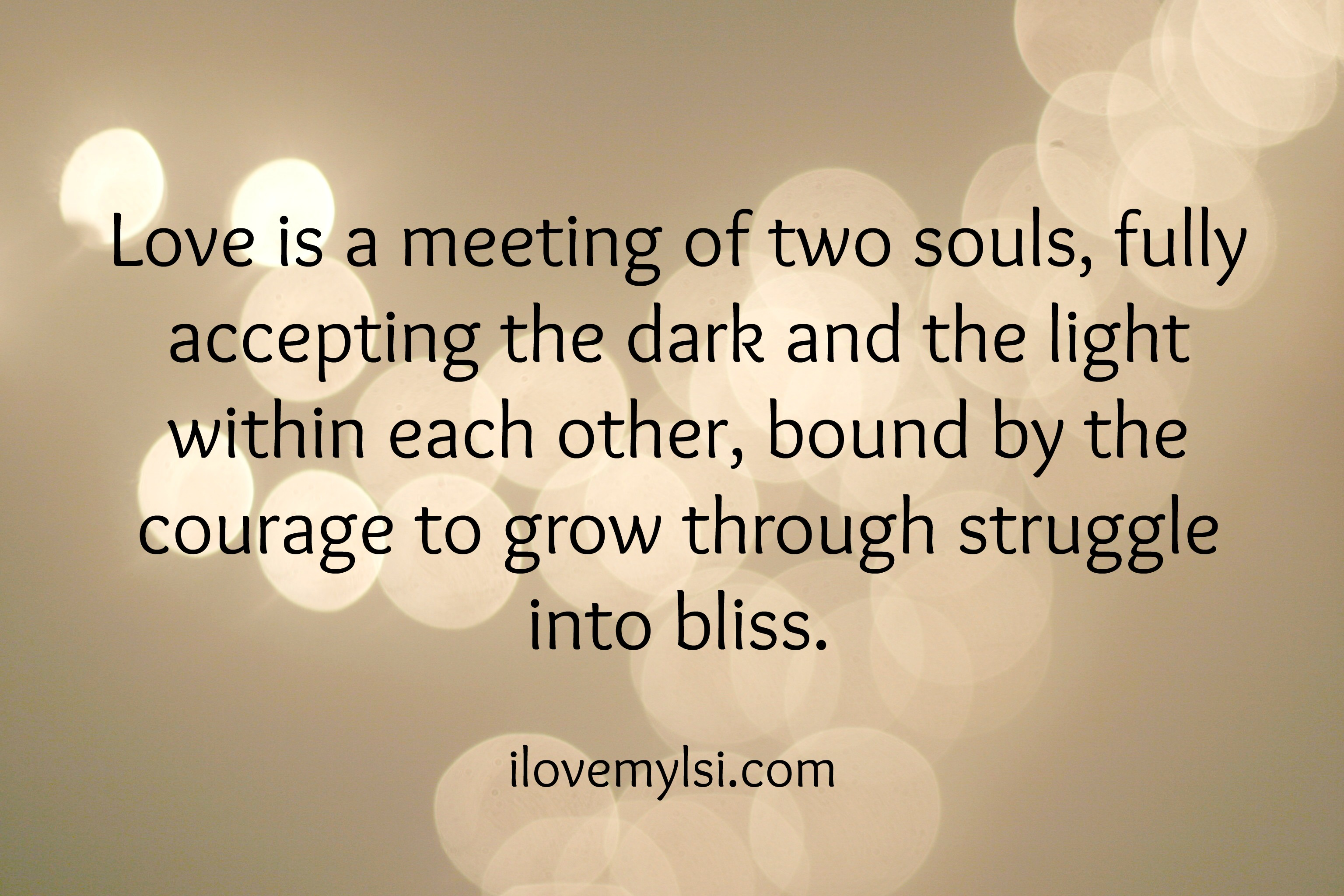 Soul Love Quotes Alluring Love Is A Meeting Of Two Souls I Love My Lsi