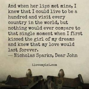 When her lips met mine.