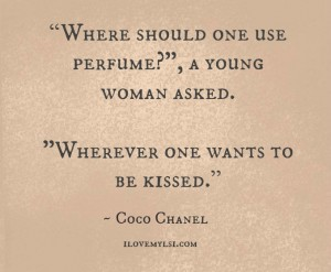 Where should one use perfume?