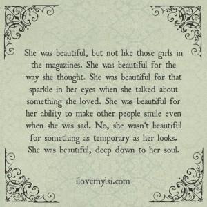 She was beautiful.