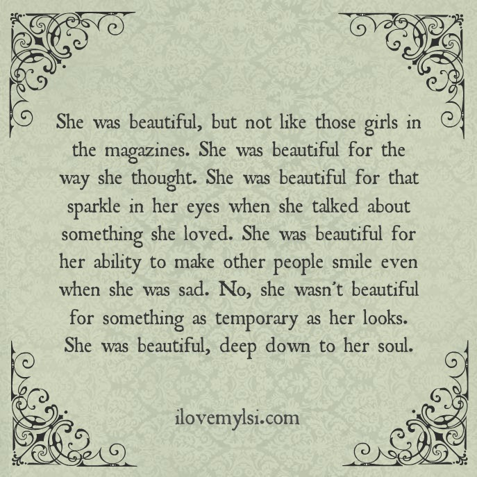 Tell Her She's Beautiful Quotes Adorable She Was Beautiful I Love My Lsi