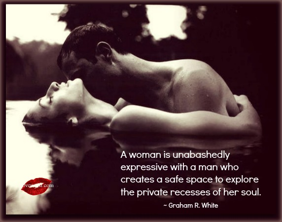 A woman is unabashedly expressive
