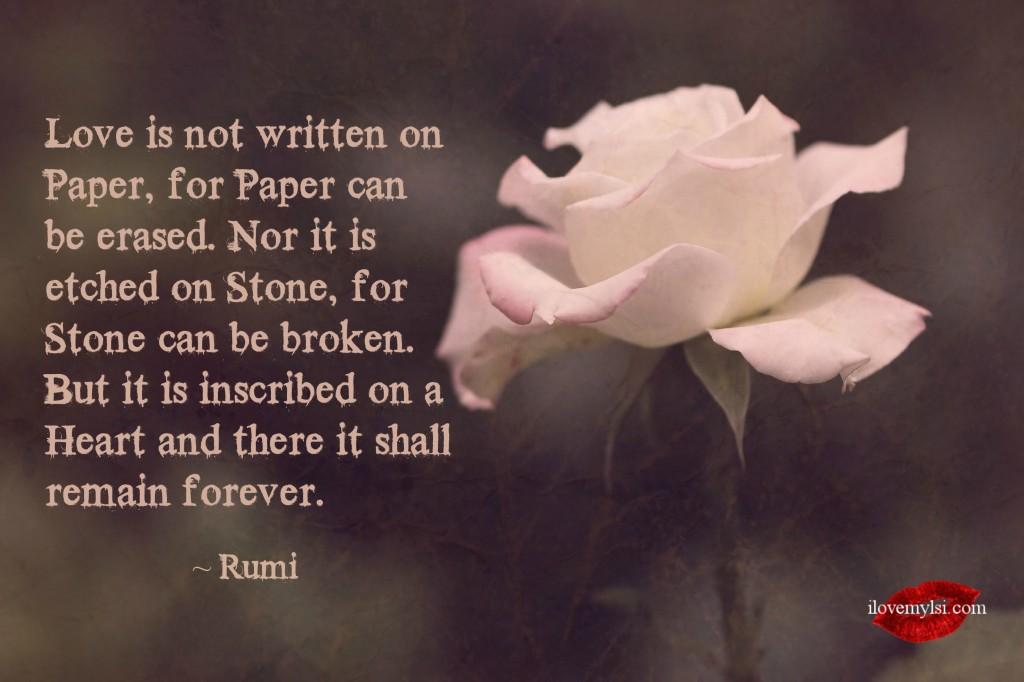Love is not written on paper