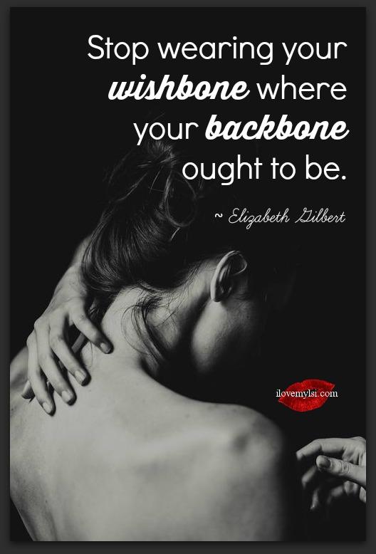 Stop wearing your wishbone.