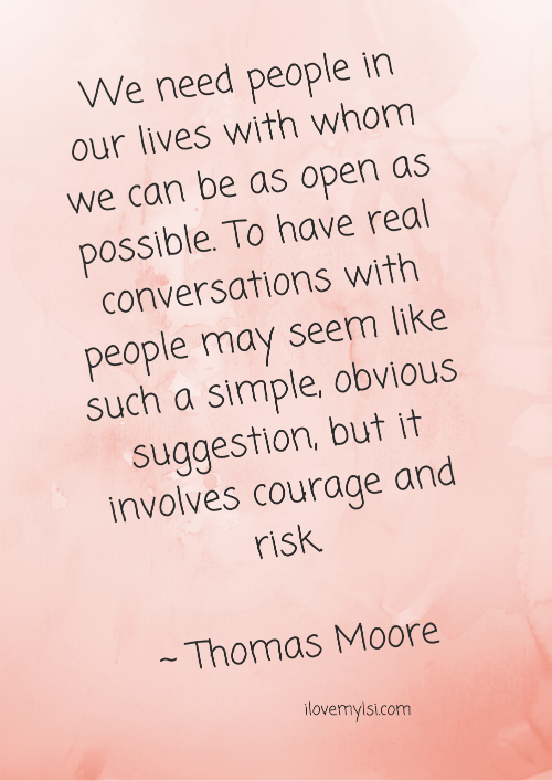 We need to be as open as possible.