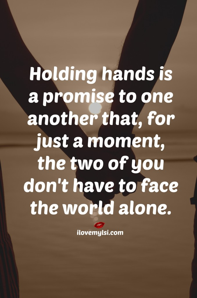 holding hands is a promise