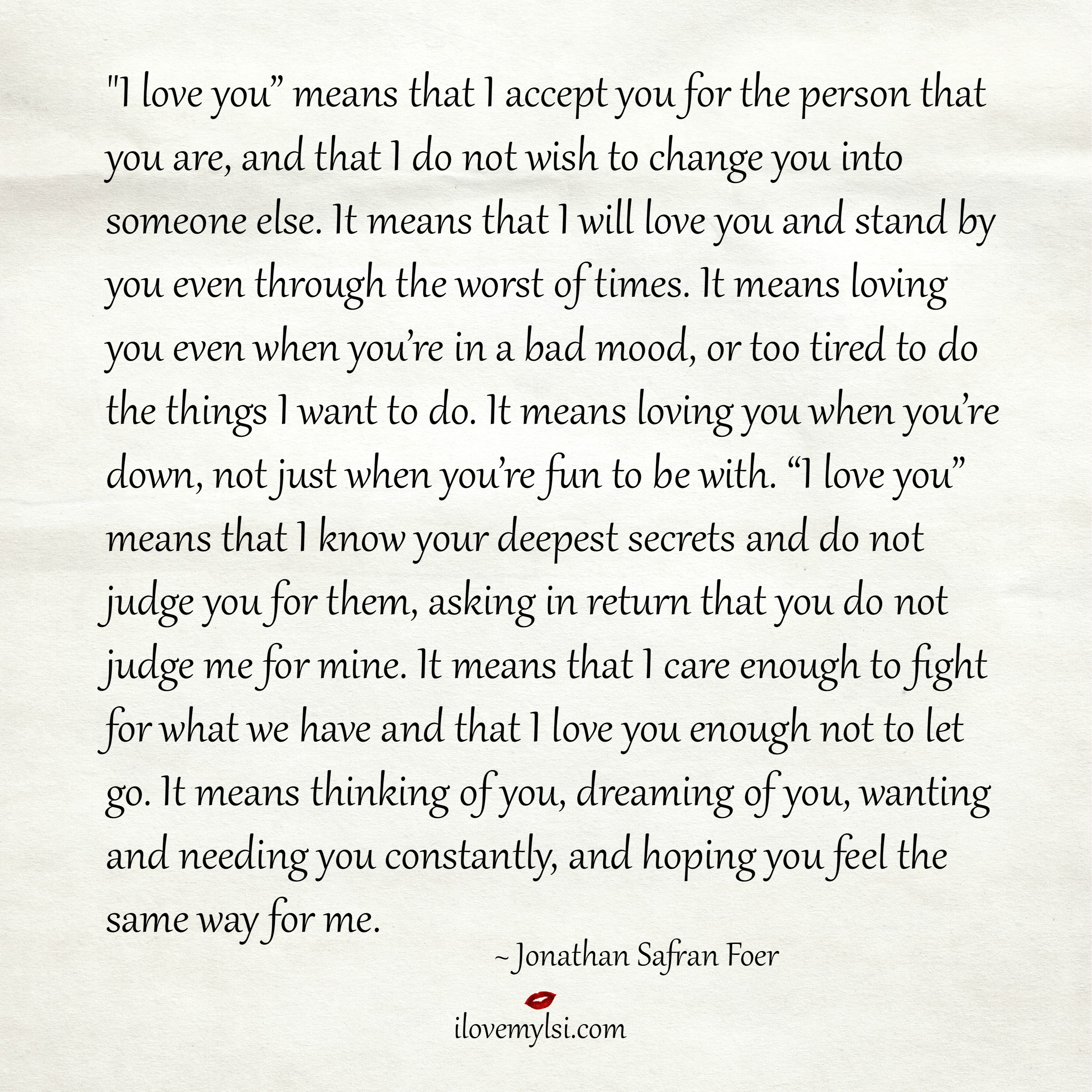 "What I Love About You Quotes I Love You"" Means That I Accept You  I Love My Lsi"