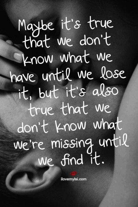 We don't know what we have until we lose it
