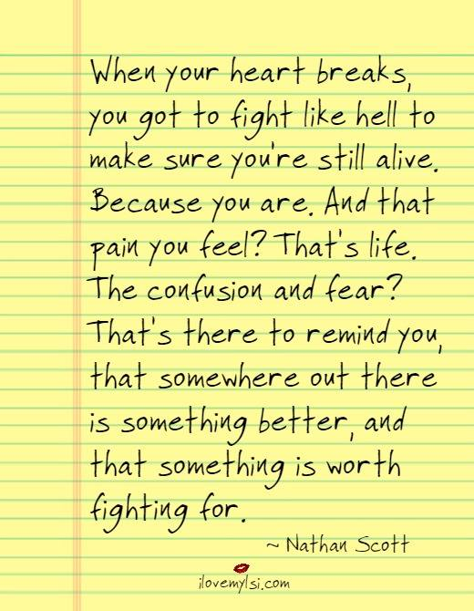 Something is worth fighting for
