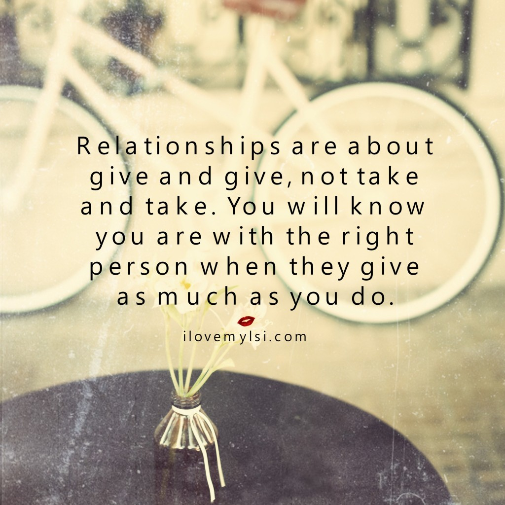 give and take relationship