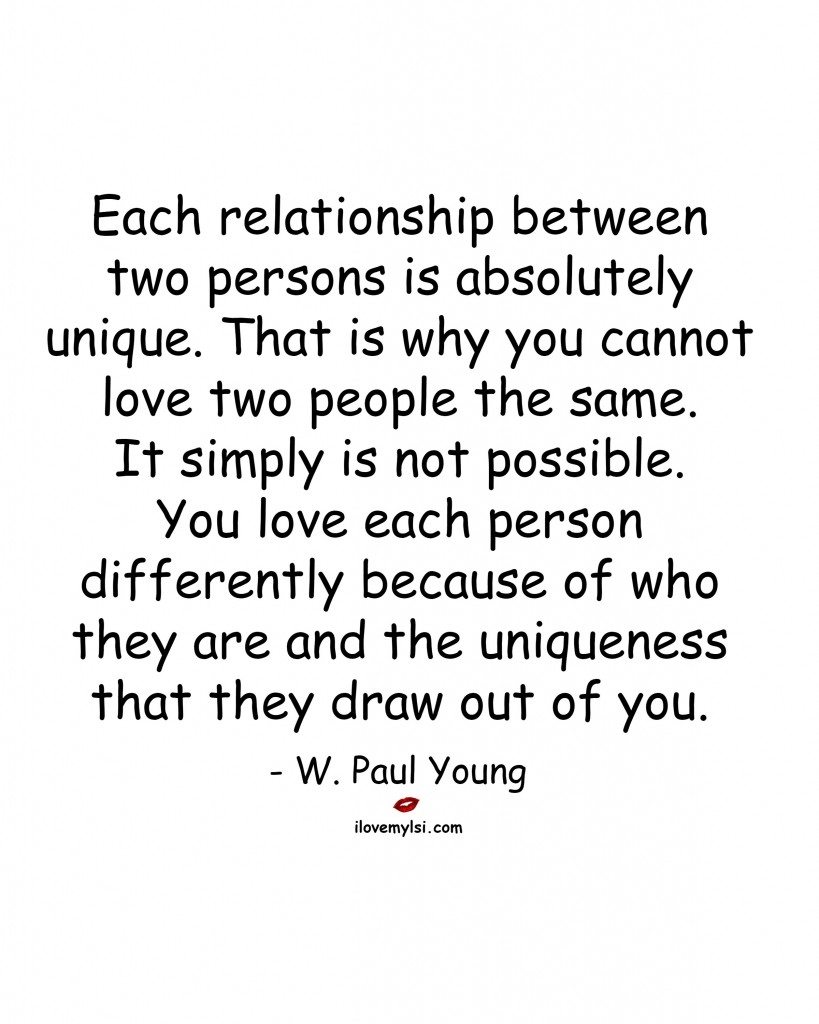 each relationship between two persons