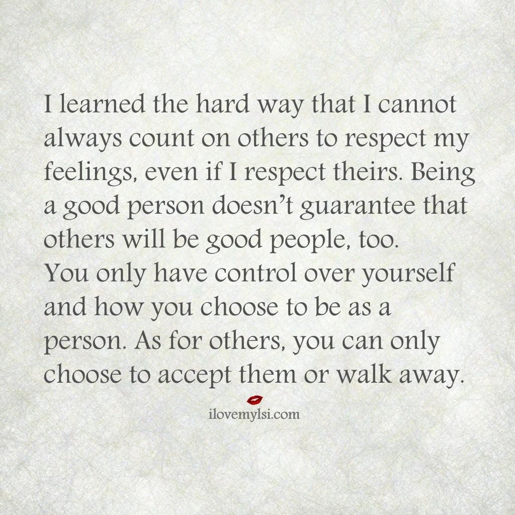 respect my feelings
