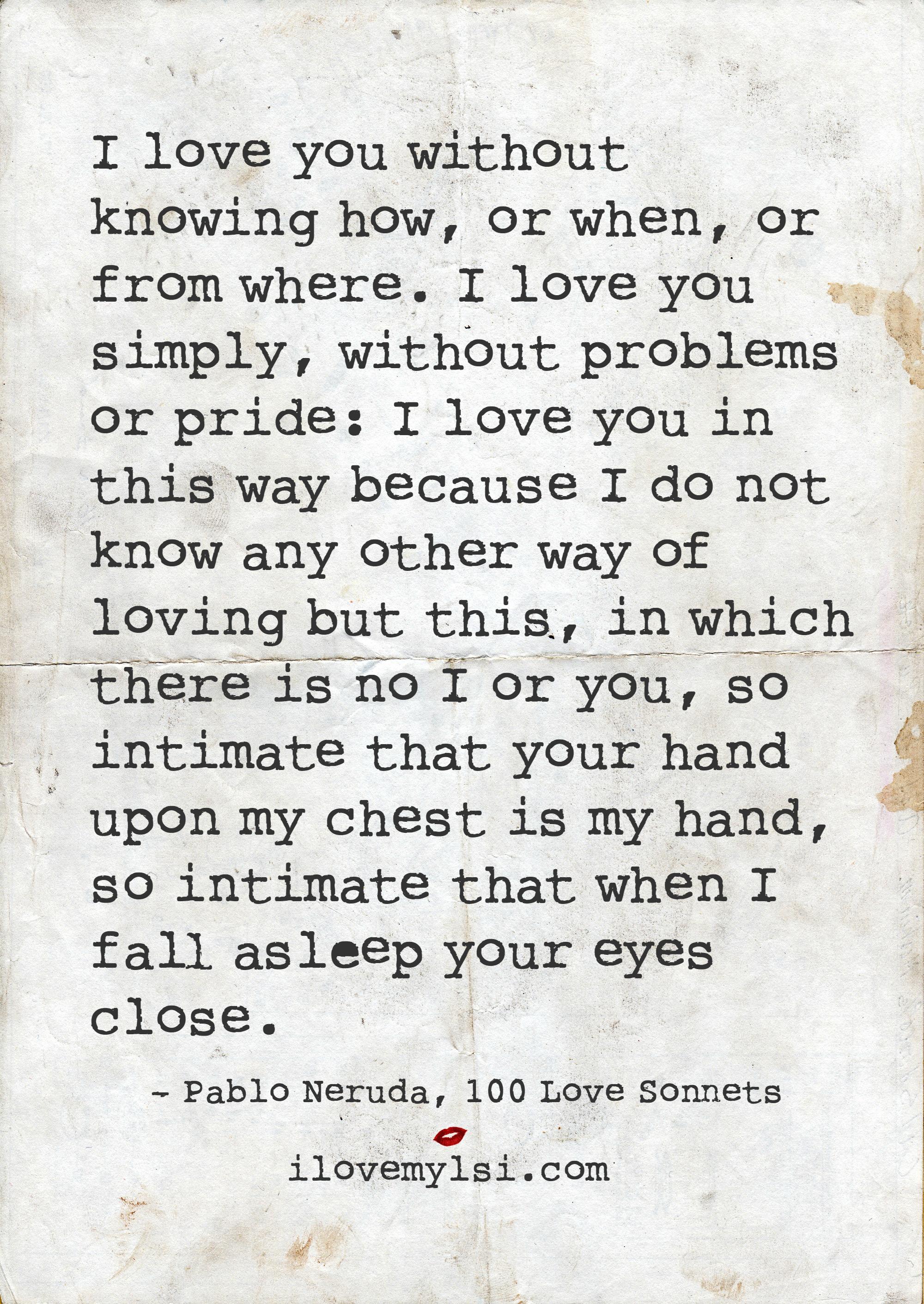 How do i know i love you